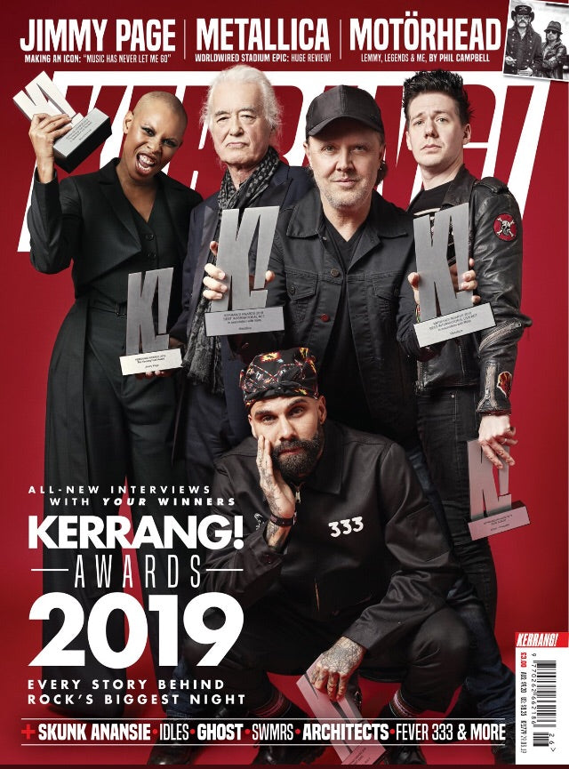 UK Kerrang! Magazine June 2019: Ghost (Tobias Forge) Jimmy Page Metallica Motorhead