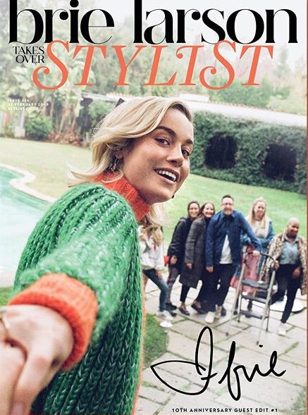 UK Stylist Magazine February 2019: Brie Larson takes over