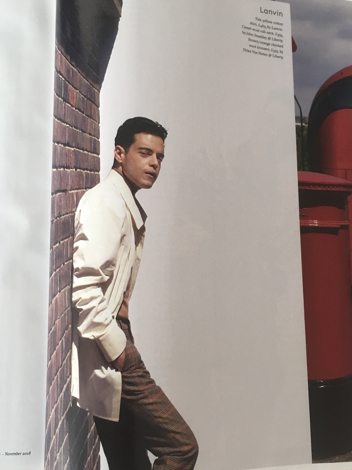 British Esquire Magazine November 2018: Rami Malek Freddie Mercury