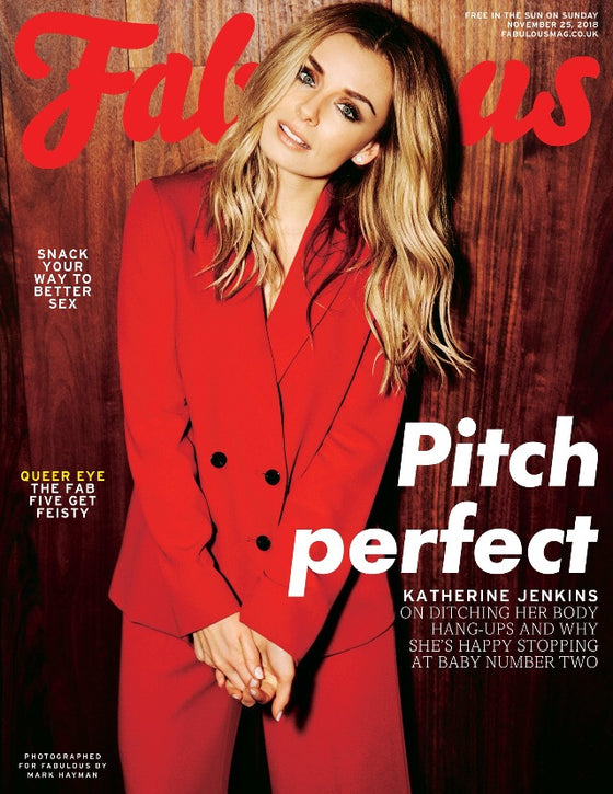 UK Fabulous Magazine November 2018: Katherine Jenkins Cover
