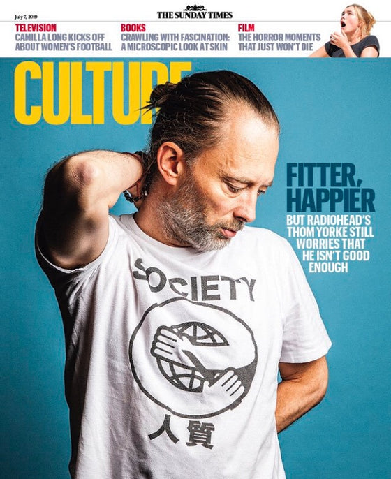 THOM YORKE COVER & INTERVIEW SUNDAY TIMES UK CULTURE MAGAZINE 2019 RADIOHEAD
