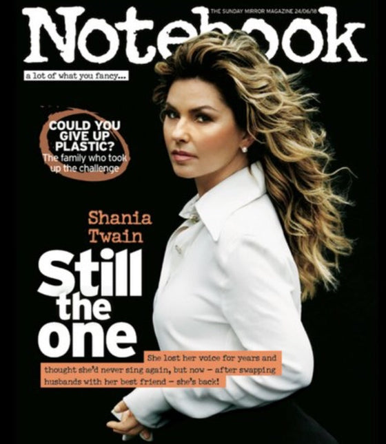 UK Notebook Magazine June 2018 Shania Twain Cover