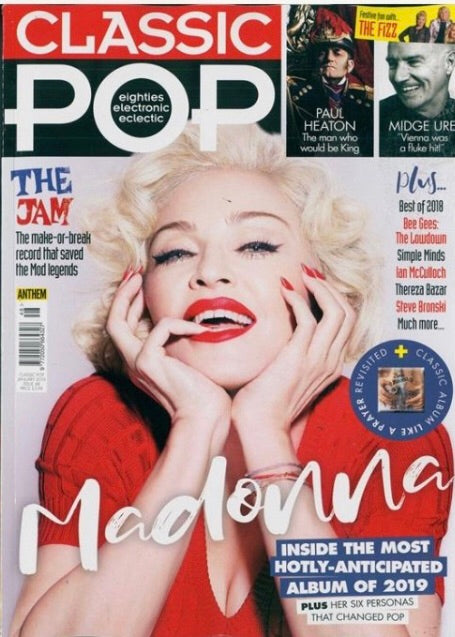 MADONNA - CLASSIC POP UK COVER MAGAZINE JANUARY 2019 NEW ISSUE #48