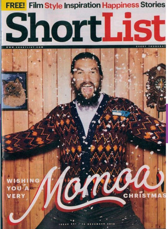 UK Shortlist Magazine December 2018 Jason Momoa Cover