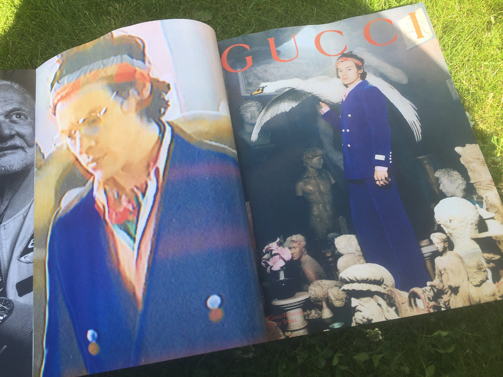 UK GQ Magazine August 2019: Harry Styles for Gucci
