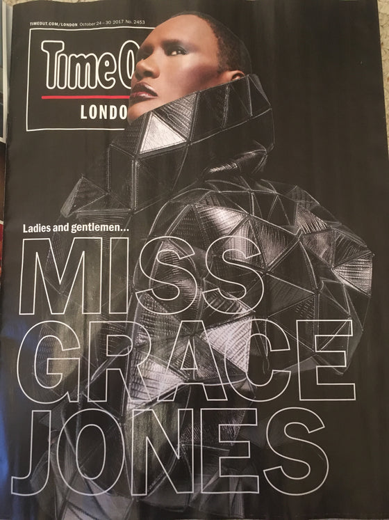 Grace Jones on the cover of Time Out London Magazine