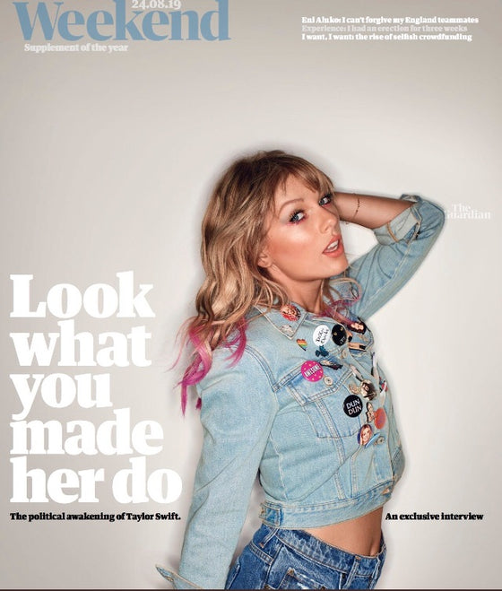 GUARDIAN WEEKEND August 2019 Taylor Swift cover and interview