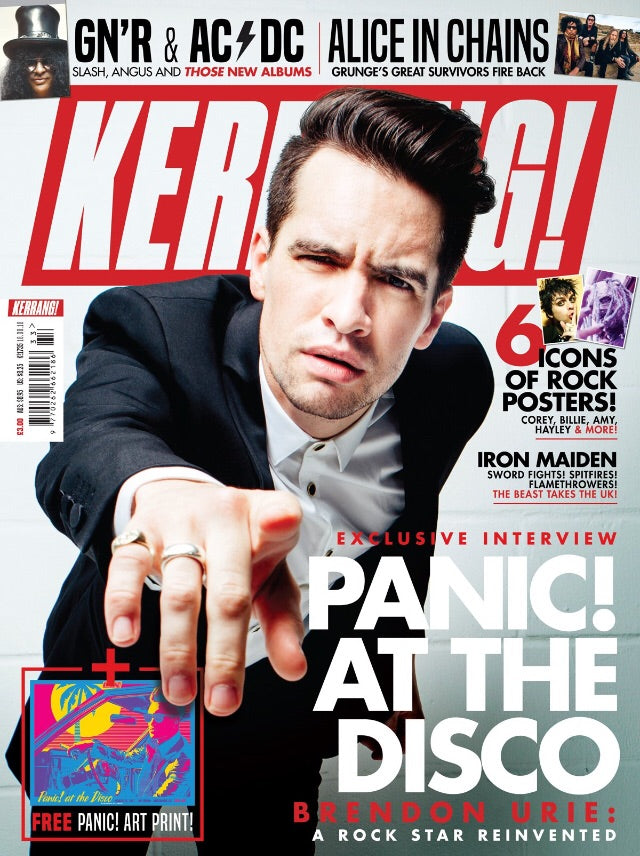 Kerrang! Magazine #1735: Brandon Urie (Panic! At The Disco) Iron Maiden Alice In Chains