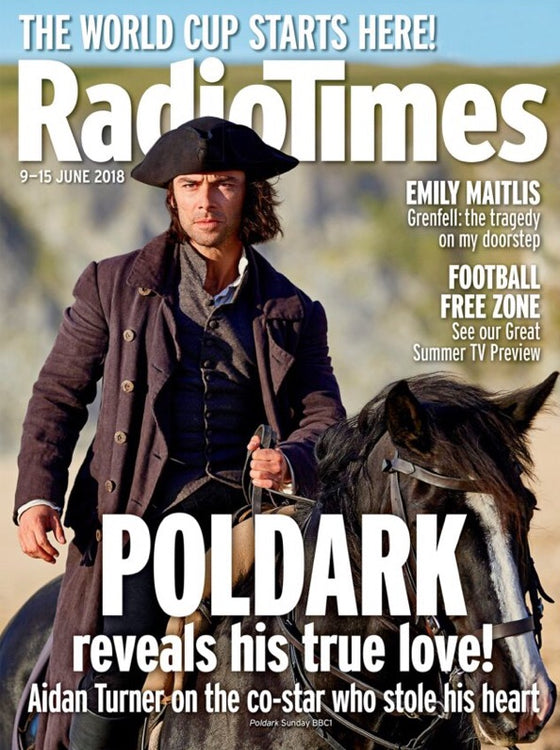UK Radio Times Magazine June 2018 Aidan Turner Poldark Cover Story