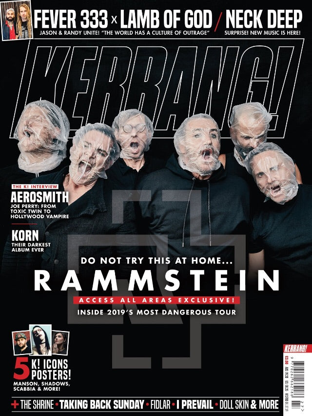 KERRANG! magazine July 2019: Rammstein - Access All Area - Marilyn Manson Korn