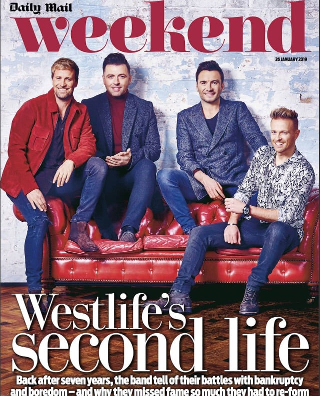 UK Daily Mail Weekend Magazine 26 January 2019: WESTLIFE COVER EXCLUSIVE