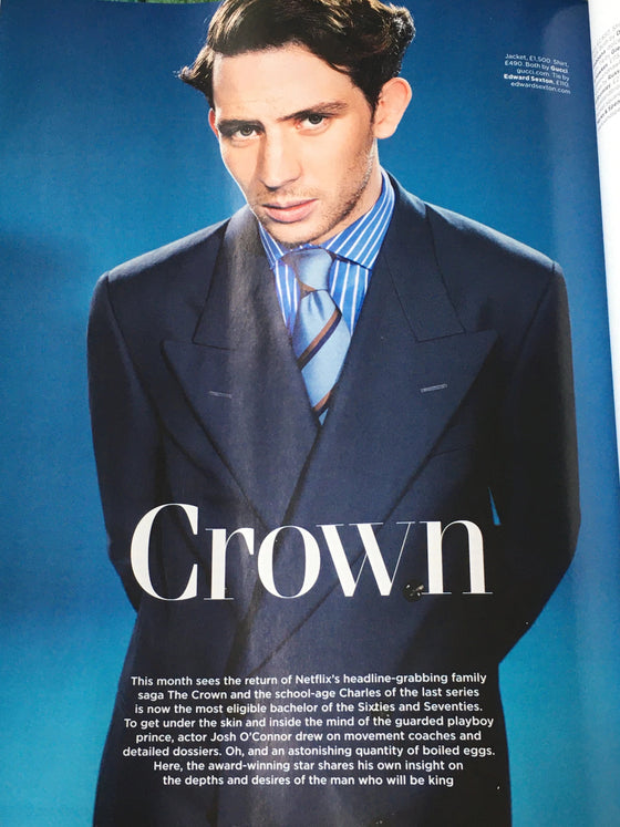 British GQ Magazine December 2019: JOSH O'CONNOR THE CROWN