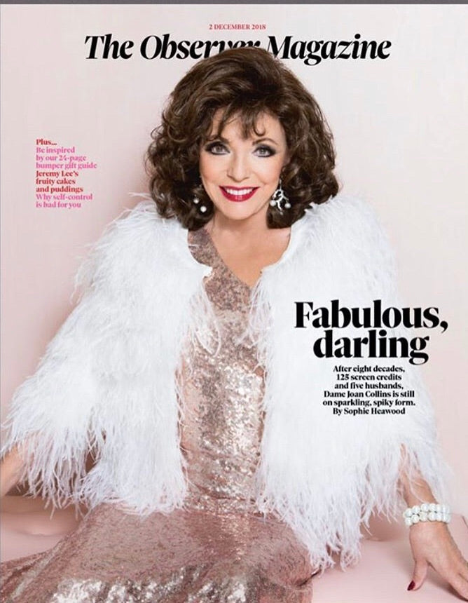 UK Observer Magazine December 2018: Joan Collins Rupert Grint