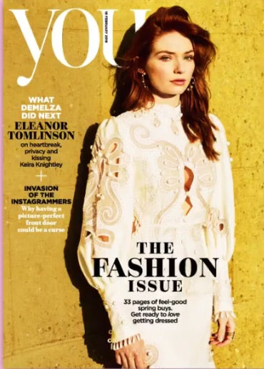 UK You Magazine Feb 2019: Eleanor Tomlinson Poldark Cover Story