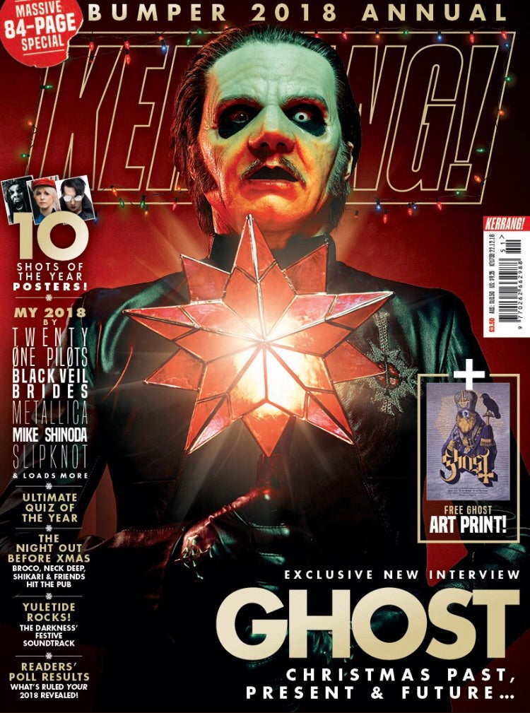 UK Kerrang! Magazine December 2018 Ghost Cover