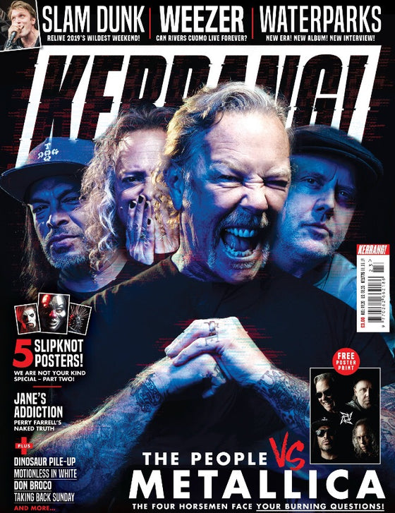 Kerrang! Magazine 8th June 2019: Metallica + Exclusive Poster Print