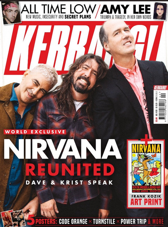 UK Kerrang! Magazine October 2018 Dave Grohl Nirvana Reunited Exclusive + Free Art Print