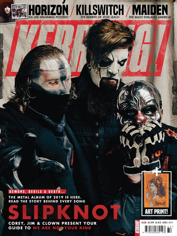 KERRANG! magazine August 2019: Slipknot (We Are Not Your Kind) + Art Print