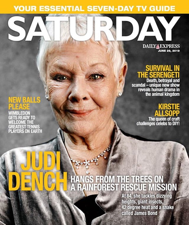 UK Saturday Magazine June 2019: Judi Dench Cover