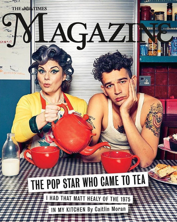 UK Times Magazine December 2018 Matty Healy The 1975 at tea