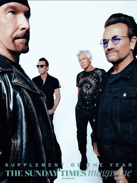 UK Sunday Times Magazine September 2018: U2 Bono Exclusive