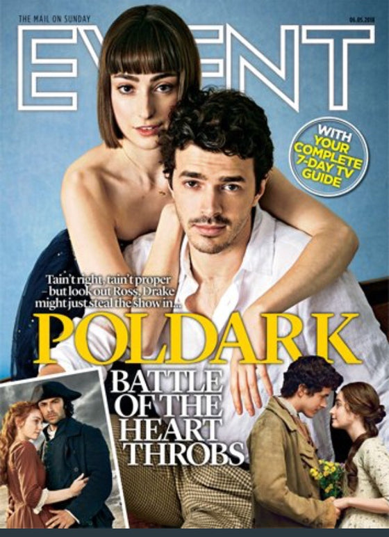 UK Event Magazine May 2018 Harry Richardson and Ellise Chappell Poldark