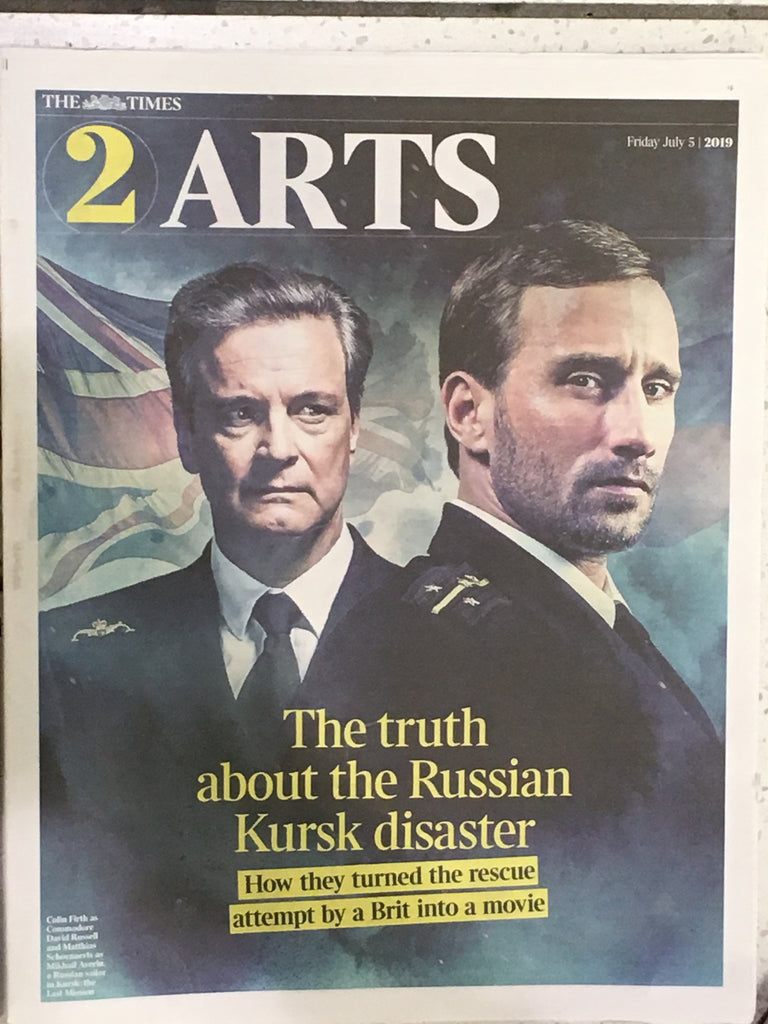 Matthias Schoenaerts & Colin Firth UK Times 2 Arts July 2019