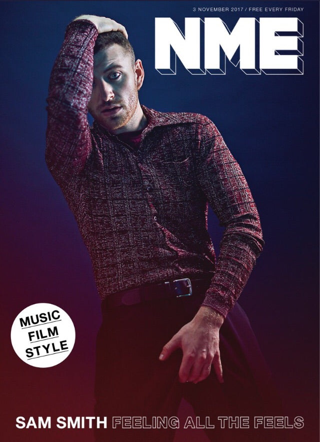 sam smith on the cover of november's NME magazine