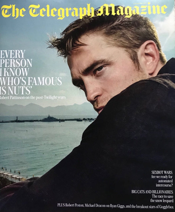 Robert Pattinson on the cover of Telegraph Magazine