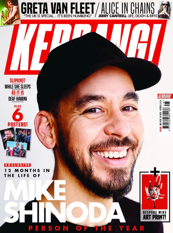 KERRANG! magazine 1 December 2018 #1750 Mike Shinoda (Linkin Park) Greta Van Fleet Alice In Chains