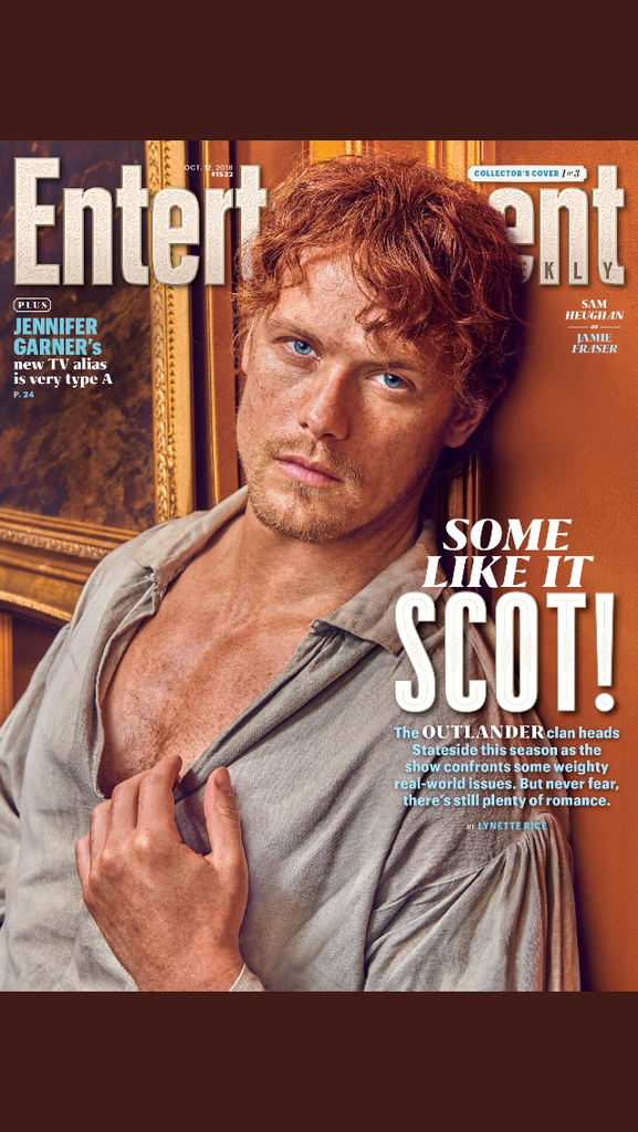 US Entertainment Weekly October 2018: Sam Heughan Outlander Cover