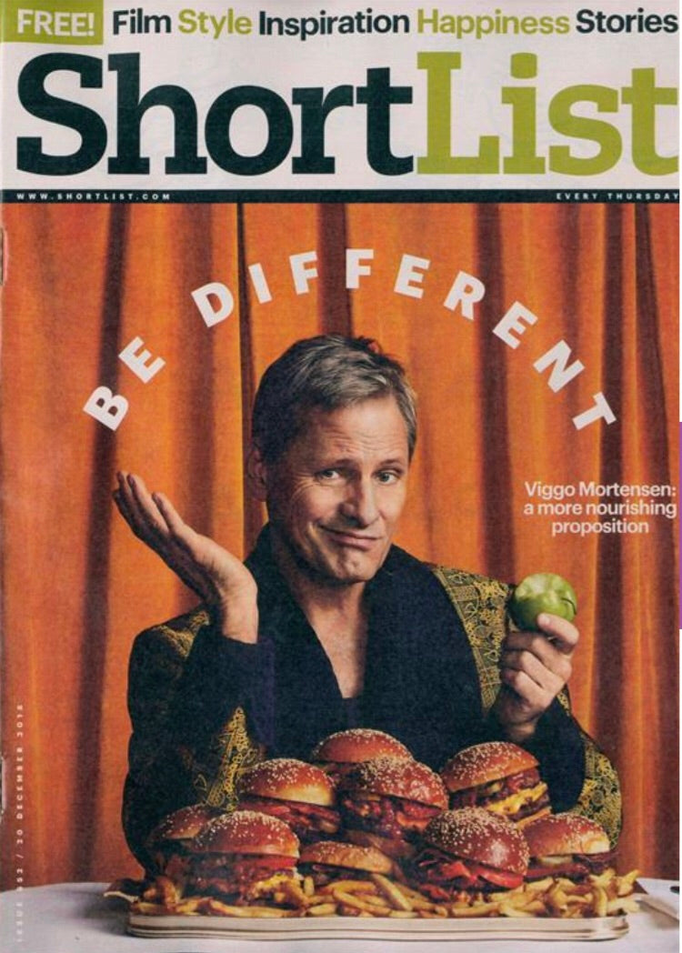 UK Shortlist Magazine December 2018 Viggo Mortensen Cover