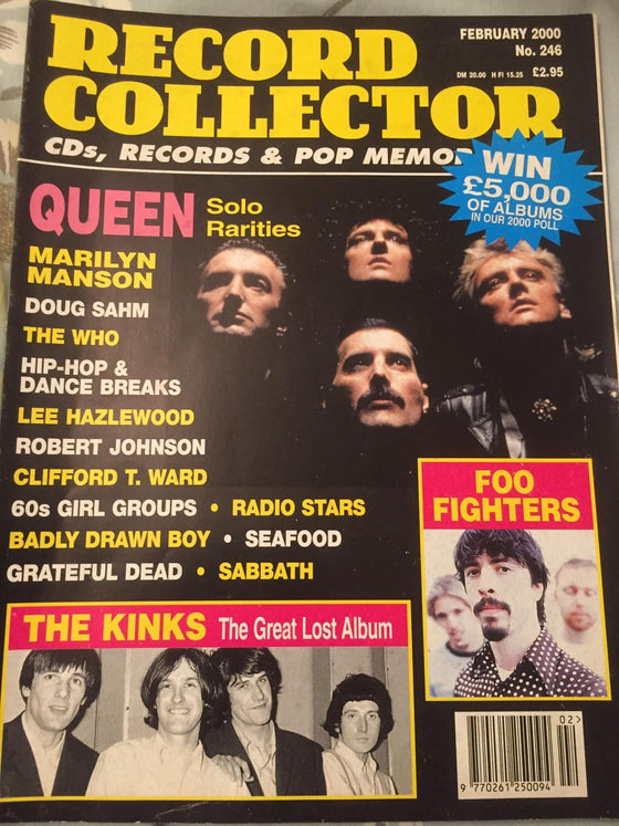Record Collector Magazine February 2000 - Queen Freddie Mercury Solo Rarities