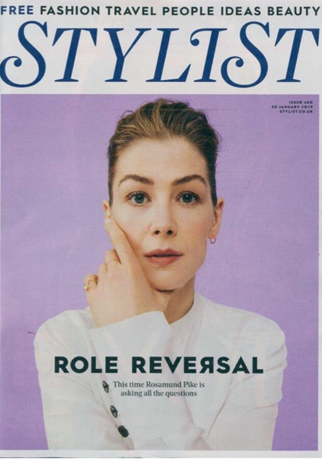 UK Stylist Magazine January 2019 Rosamund Pike Cover Story