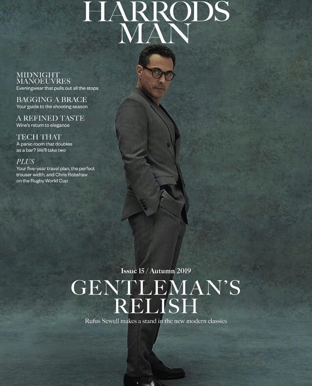 Harrods Man Magazine Autumn 2019: Rufus Sewell