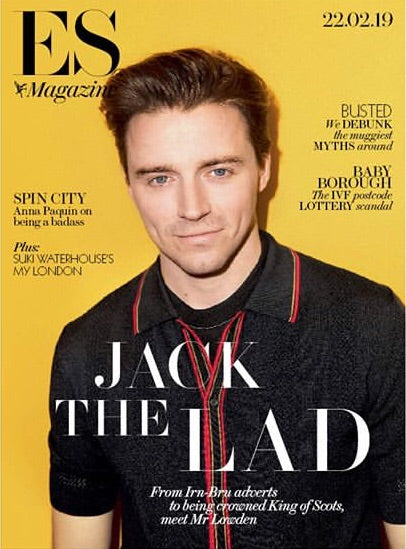 London ES Magazine Feb 2019: Jack Lowden Cover