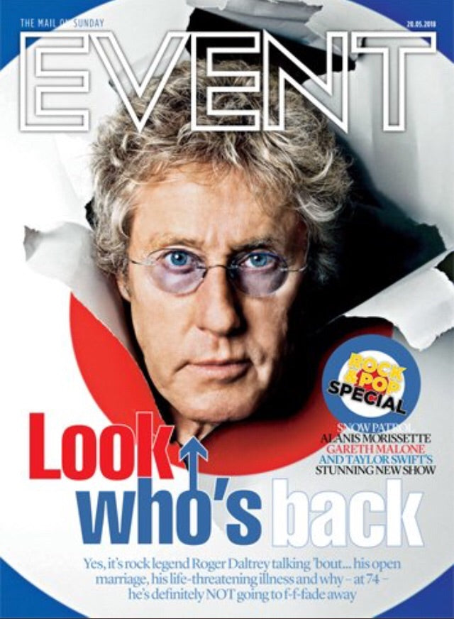 UK Event Magazine May 2018 Roger Daltrey The Who Cover Interview