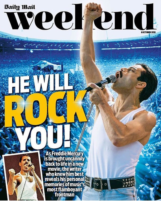 UK Weekend Magazine October 2018: Rami Malek Freddie Mercury Queen Cover Story