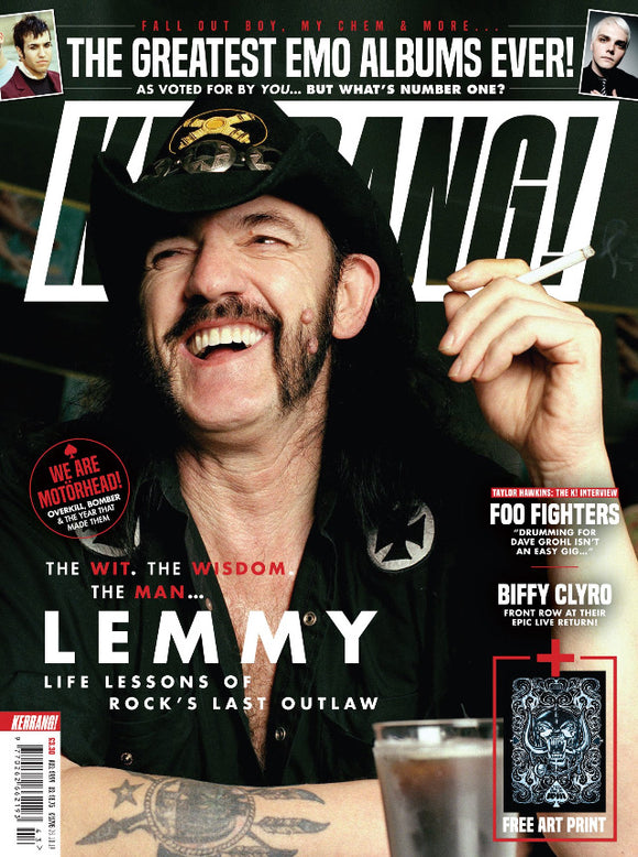 UK Kerrang! Magazine October 2019: Lemmy (Motorhead) special + art print