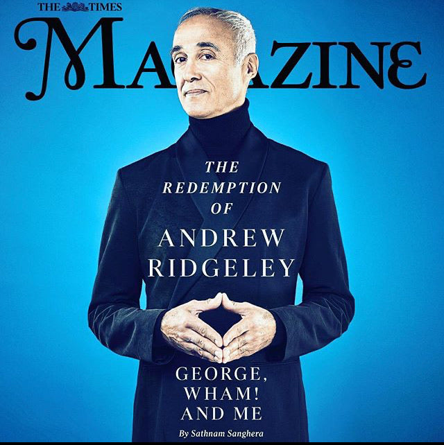 UK Times Magazine November 2019 Andrew Ridgeley Wham! George Michael
