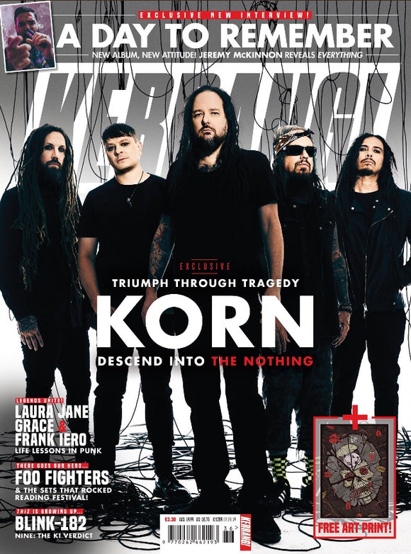 KERRANG! magazine Sept 7 2019: KORN Comeback Interview + Art Print