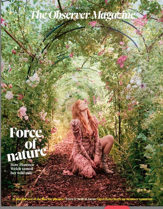 UK Observer Magazine June 2018: Florence Welch And The Machine Cover Interview