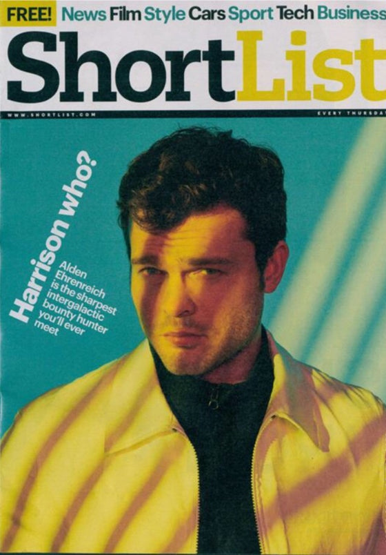 UK Shortlist Magazine May 2018: Alden Ehrenreich Cover Interview