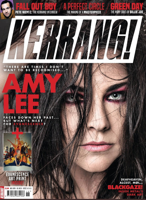 Kerrang! Magazine 14th April 2018 Amy Lee - Evanescence Exclusive & Art Print