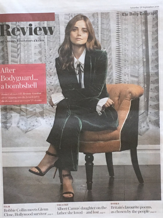 U.K. Telegraph Review September 2018: Jenna Coleman Cover