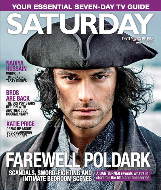 UK Saturday Magazine July 2019: Aidan Turner (The Poldark Farewell)