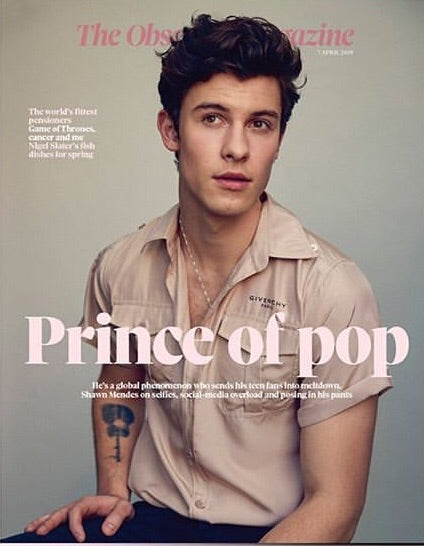 OBSERVER magazine 7 April 2019 Shawn Mendes cover and interview