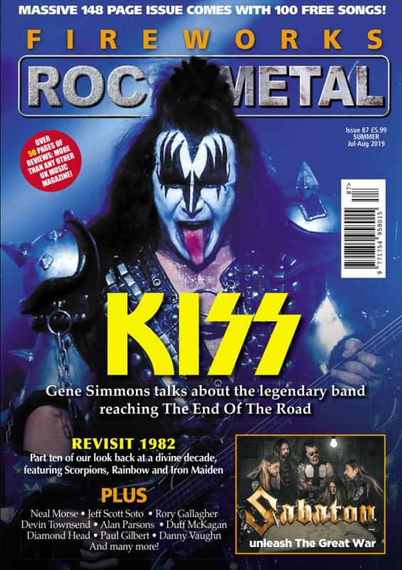 Fireworks Magazine Summer 2019: KISS COVER FEATURE + FREE CD