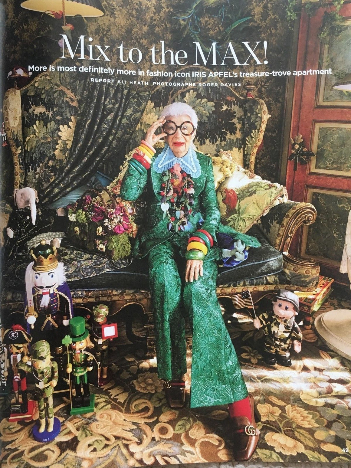 UK You Magazine JUNE 2018: IRIS APFEL - At Home in Her New York Apartment
