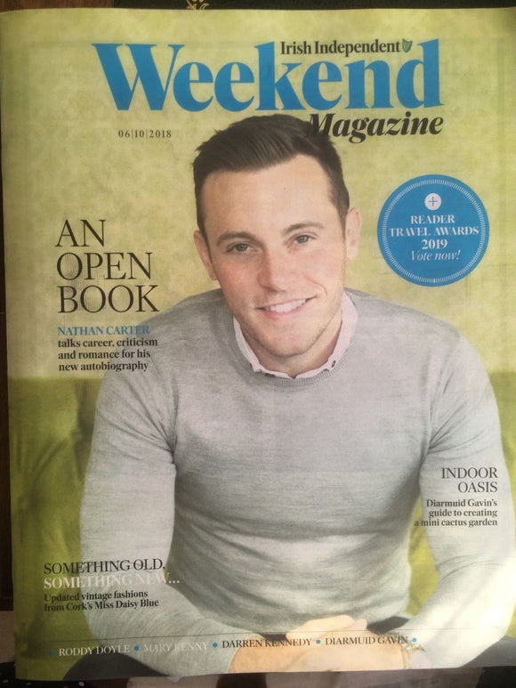 NATHAN CARTER PHOTO COVER INTERVIEW IRISH WEEKEND MAGAZINE OCTOBER 2018